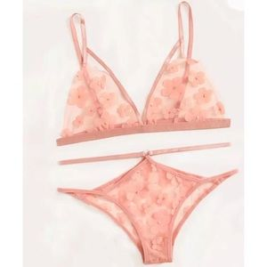 Other - Pink Cherry Blossoms Lingerie Set